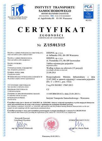 certyfikaty-Z15-013-15-DERPOL-NIKKA