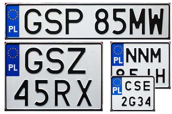 Produkcja tablic rejestracyjnych